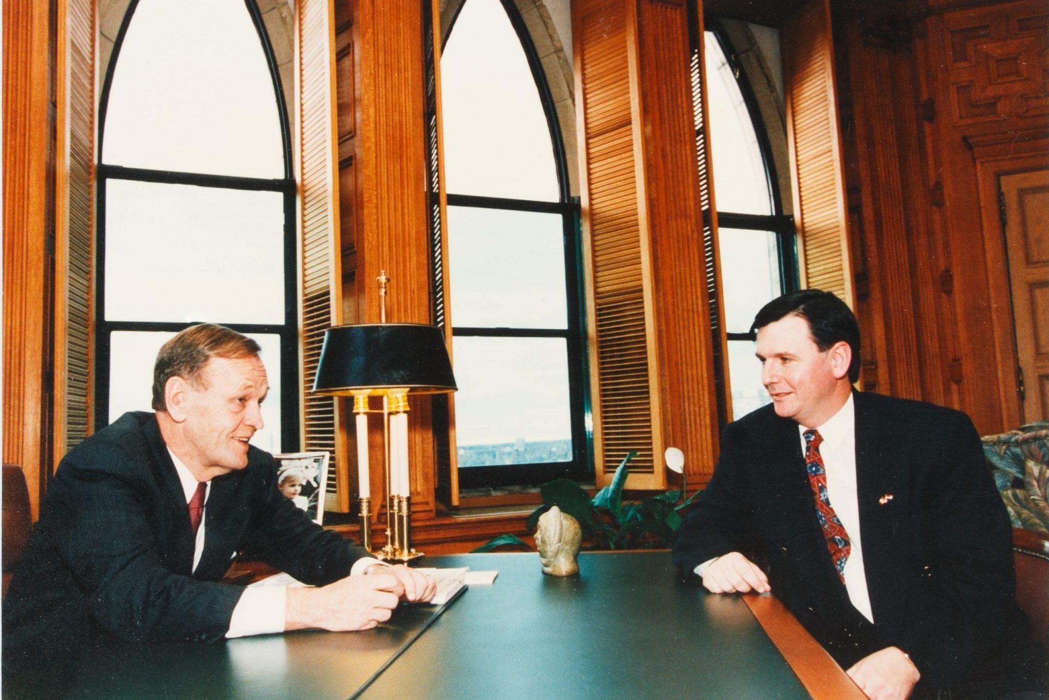 Hon. Jean Chretien and Hon. Gar Knutson